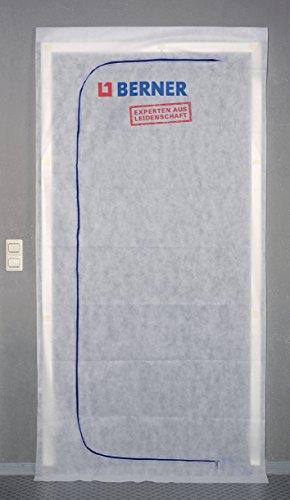 Berner Staubschutztür 1,10x2,40m inkl. Klebeband Schmutztür Staubtür Bautür mit Reißverschluss
