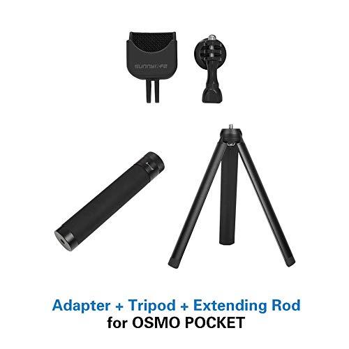 1 Mast Extension (CHOULI Sunnylife OSMO Pocket Stativ den Kauf wert Adapter + Stativ + Verlängerung schwarz)