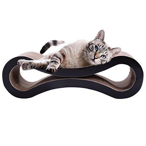 Kratzbaum für Katzen, Legendog Katze Scratching Pad Wellpappe Nummer 8 Geformt Katze Lounge Bett Katze Spielzeug für Kitten