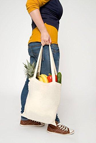Baumwolltasche Jutebeutel Einkaufstasche lange Henkel