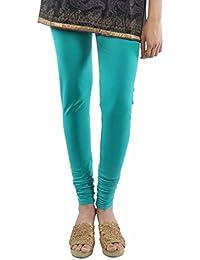 Sakhi Sang Women Cotton Leggings -Teal Green -Medium