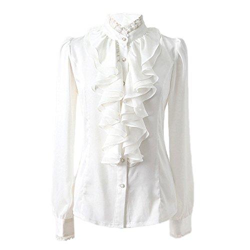nonbrand-donna-ruffle-shirt-inverno-manica-lunga-camicetta-da-donna-vestito-top-ufficio-satinato-whi