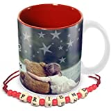 Tuelip Friendship Meaning Quotes Mug With Free Friendship Band For Tea And Coffee 350 Ml Ceramic Printed Mug
