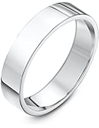 Theia Unisex Sterling Silver Super Heavy Flat Court Shape Wedding Ring