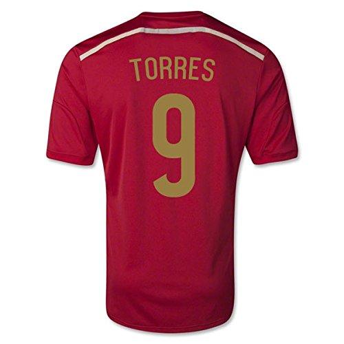 adidas Kinder Kurzärmliges Trikot FEF Spain Home Jersey Torres 9
