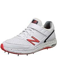 New Balance CK4040 B4 - Zapatos de Bolos para críquet, Hombre, CK4040B4, Blanco y Rojo, 11.5 UK