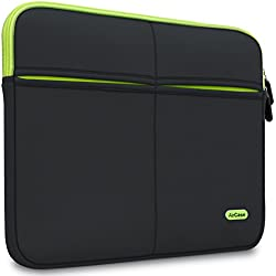 AirPlus AirCase 15-Inch to 15.6-Inch Laptop Sleeve Suave, 6-MultiUtility Pockets (Black)