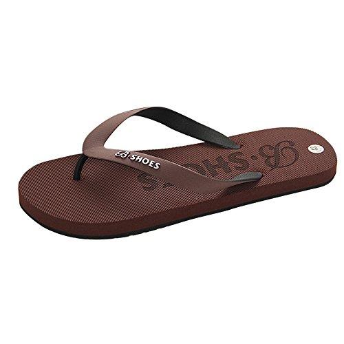 Aoogo Männer Sommer Flache Slipper Herren Casual Schuhe Sandalen Indoor oder Outdoor Anti-Rutsch Flip Flops Soft Sport Sliders Bad Strand Pool Schuhe Alpinestars Slip