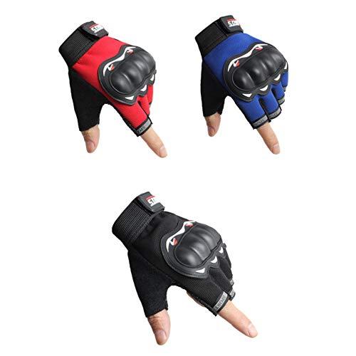 Hehh Tuoba Fish Halber Finger Fahrender Handschuhe, dünne Motorradhandschuhe für Männer und...