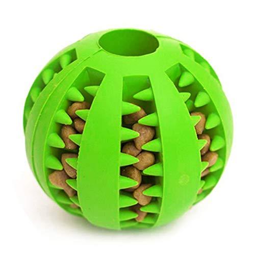 LIULINCUN Hund Spielzeug Ball, ungiftig Biss resistent Toy Ball für Hunde Welpen Katze, Hund Haustierfutter behandeln Feeder Chew Zahnreinigung Ball Übung Spiel IQ Training Ball, grün -