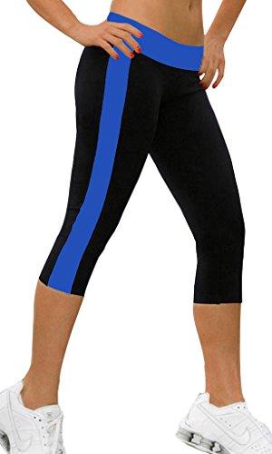 iLoveSIA Damen Jogging Hose Sport 3/4 Leggings Strumpfhosen Marineblau&Schwarz,S (Cord Moderne Slim Pants)