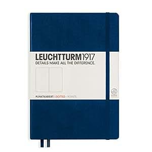 Leuchtturm1917 342925 Carnet Medium (A5), 249 pages numérotées, bleu marine, pointillés