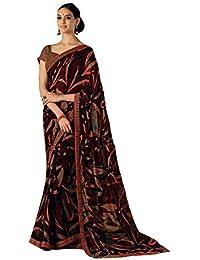 5106a50ae4b Laxmipati All Time Heat Printed Saree (Brown)