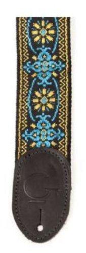 Gretsch 922-0060-104 Guitar Strap, Blue/Orange Black End