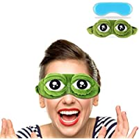 Fluffige Augenmaske Cartoon-Frosch mit Kühlpack preisvergleich bei billige-tabletten.eu