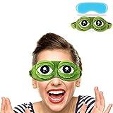 Diseño de rana de pelusas–Máscara para dormir Funny Cartoon Antifaz para dormir antifaz para dormir con bolsa de hielo para sleeping-frog ojos