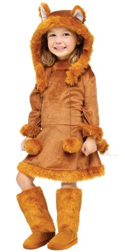 Mädchen Fuchs Kostüm - Unbekannt Süßer Fuchs Kinderkostüm für Mädchen (Größe 140-152)