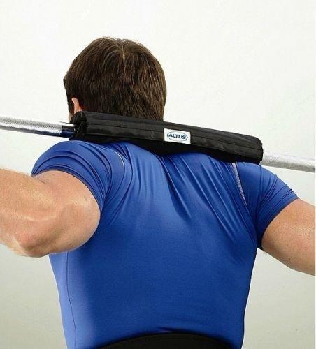 New Barbell Nylon Unterstützung Pad gedrungene Olympischen Bar Gewichtheben Pull Up Grip