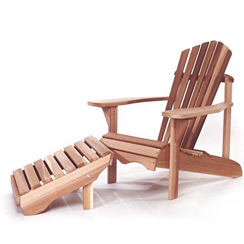 Ensemble fauteuil chaise et repose-pieds Adirondack Ottoman