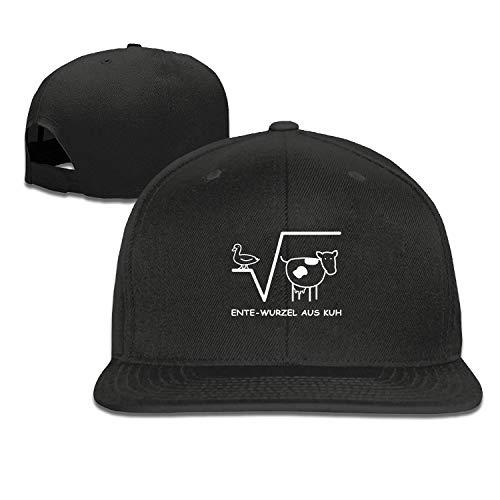 Mathe-cap (EANTE Trucker Cap-Ente Wurzel Aus Kuh Mathe Spruch Herrenmützen für Damen, klassisch, sportlich, lässig, einfarbig)
