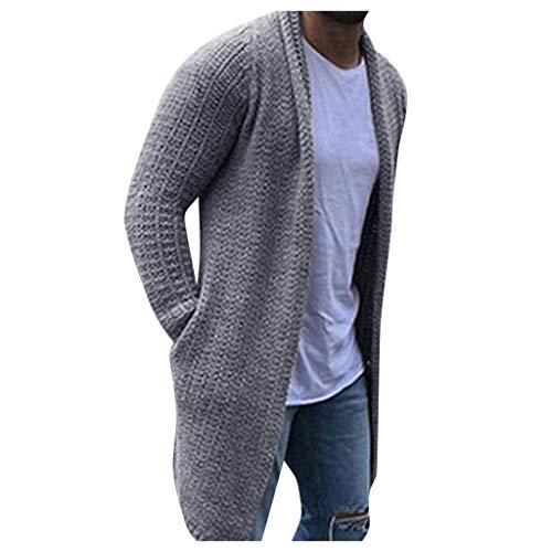 Xuthuly 2019 beiläufige Feste Männer Strickjacke Streetwear Langarm Strickpullis Herbst Männer Slim Fit Pullover Mantel Plus Größe 23XL