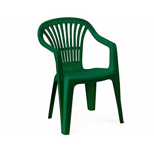 SIBrand - Evergreen - Alessandra - Chaise empilable avec accoudoirs - Ameublement extérieur - Vert