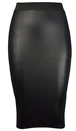 OG Luxe Damen Skelett Drucken Knochen Hand Bodycon Kleid Bodysuit V-Ausschnitt Halloween Party Sammlung Plus Größe 36-54 (XXL/XXXL (EU 52-54), WETLOOK PENCIL - Halloween Party Skelett