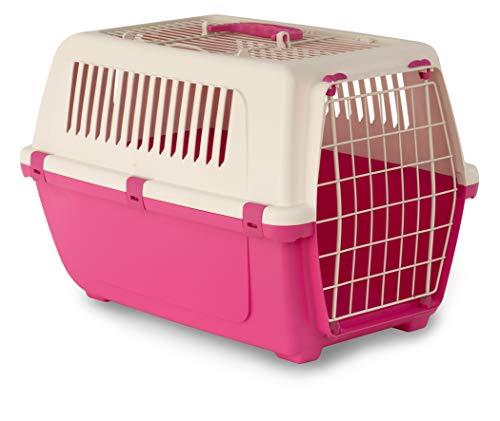MP Bergamo 02548 Vision Free 2türen, Katzen und Haustier-Transportbox, Von Oben Zu Öffnen, 55cm, Pink