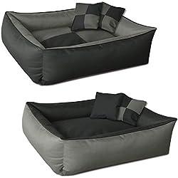 BedDog 2 en 1 colchón para Perro MAX Quattro XXL Aprox. 120x85 cm, 8 Colores, Cama para Perro, sofá para Perro, Cesta para Perro, Antracita/Gris