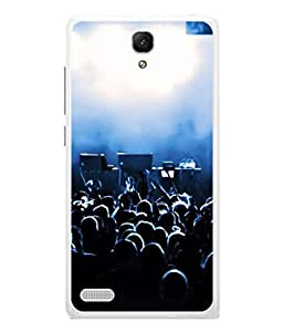 PrintVisa Designer Back Case Cover for Redmi Note / Note 4G (Bright party crowd musical band)