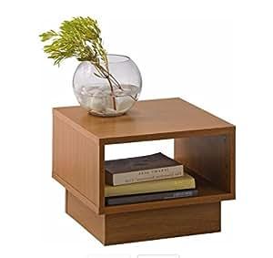 Cubes en bois massif Table Fin–Effet chêne.