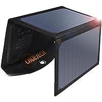 CHOETECH Solar Ladegerät 19W Regenbestädiges & Faltbares Solarpanel Outdoor Charger mit 2 USB-Ports Kompatibel mit Allen Handys, iPad, Kamera, Tablet, Bluetooth Lautsprecher usw.