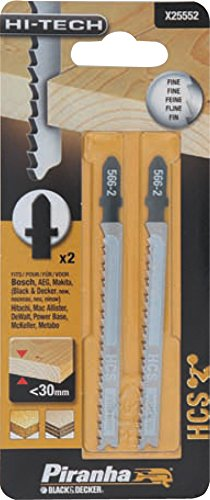 PIRANHA X25552 2 LAME LEGNO TAGLIO FINE BAION Confezione da 1PZ