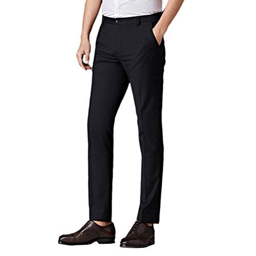 Zhuhaitf Herren Anzug Hose Men's Summer Thin Straight Slim Fit Suit Flat-Front Trousers Father Boyfriend Gift (Skinny-anzüge Für Jungen)