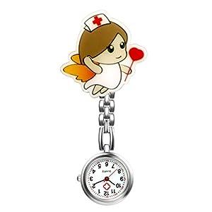 LANCARDO Uhren, Krankenschwester Armbanduhr FOB-Uhr Damen Taschenuhr Analog Quarzuhr aus Legierung LCD037P026