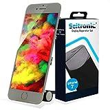 Seitronic Display Weiß Komplettset Ersatzdisplay mit Montagewerkzeug LCD Ersatz Touchscreen Glas Reparatur Ersatz für iPhone 7 weiß
