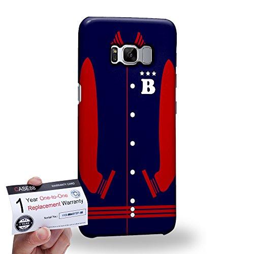 (Case88 [Samsung Galaxy S8] 3D Hülle / Schutzhülle & Garantiekarte - Art Sports MidnightBlue Baseball Jersey 1985)