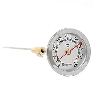 Lantelme 4010 500°c bimetall-thermomètre avec tige en acier inoxydable de 62 mm et 300 mm