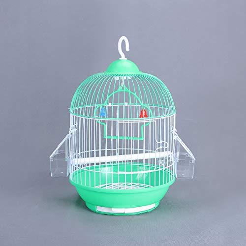 ERICN Gabbia Voliera Bianca Grande per Uccelli pappagalli in Metallo e Legno