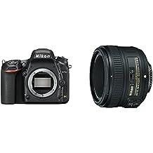 """Nikon D750 - Cámara réflex digital de 24.3 Mp (pantalla 3.2"""", vídeo Full HD), color negro - Solo cuerpo + Nikon AF-S 50mm F1.8 G - Objetivo para Nikon (distancia focal fija 50mm, apertura f/1.8) color negro"""