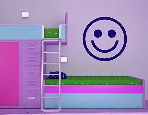 hllhpc Emoji Lächeln Gesicht Wandtattoo Kinder Kindergarten Schlafzimmer Vinyl Glück Kunstwand Kleber Brach Hauptdekoration Glücklich DIY Dekor 42 * 42 cm