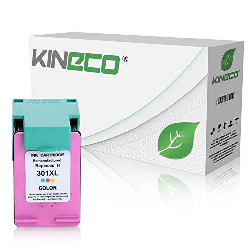 Kineco Tintenpatrone kompatibel zu HP 301XL 301 XL für HP Deskjet 1010 1510 2540 Envy 4500 5530 e-All-in-One OfficeJet 4630 4632 - CH564EE - Color 21ml