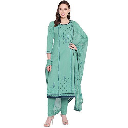 Dream Angel Fashion Frauen Baumwolle Chudidaar Salawar Kameez Gr. 64 DE L, himmelblau -