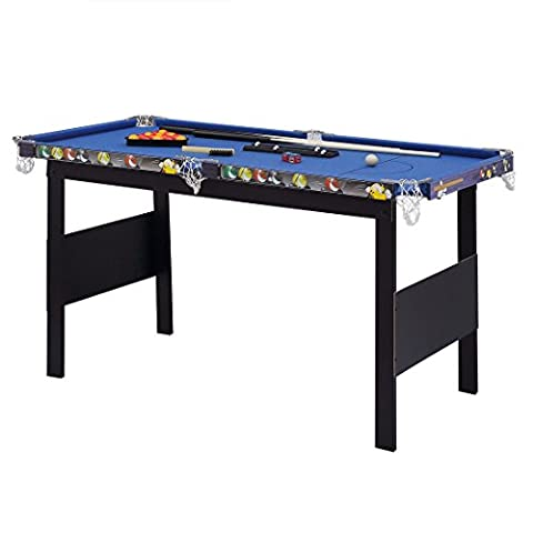 HLC 4FT Blue Billiards Snooker Pool Game Table Pool Table