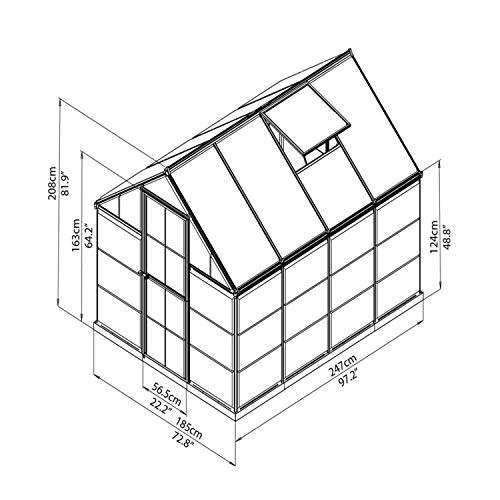 Palram Aluminium Gewächshaus Gartenhaus Hybrid - 9