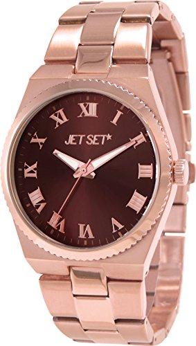 Jet Set - J6110R-722 - Success - Montre Femme - Quartz Analogique - Cadran Marron - Bracelet Acier Rose