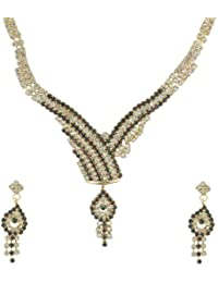 Aakhi Golden Metal 3-piece Set Necklace Set for Women