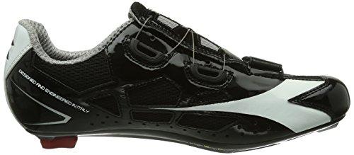 Diadora - Scarpe da ciclismo Vortex Racer, Unisex - adulto Nero (Nero/Blanco 6410)
