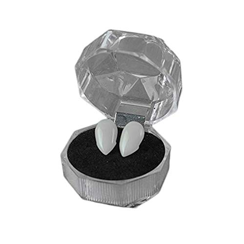 Cdet Halloween Vampir Zahnersatz und Zahnfleisch Partei Dekoration Kleiner Turban Make-up-Ball Requisiten, 1 Paar 15mm