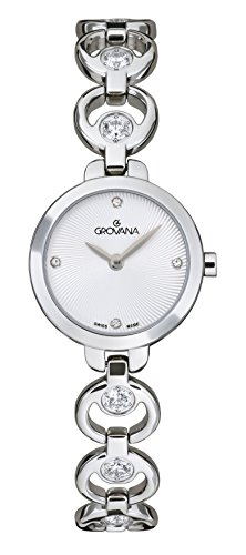 Grovana Women's Quartz Watch with Silver Dial Analogue Display and Silver Stainless Steel Bracelet 4572.7132